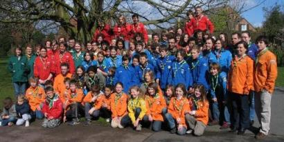 Photo des scouts et guides de Saint-André
